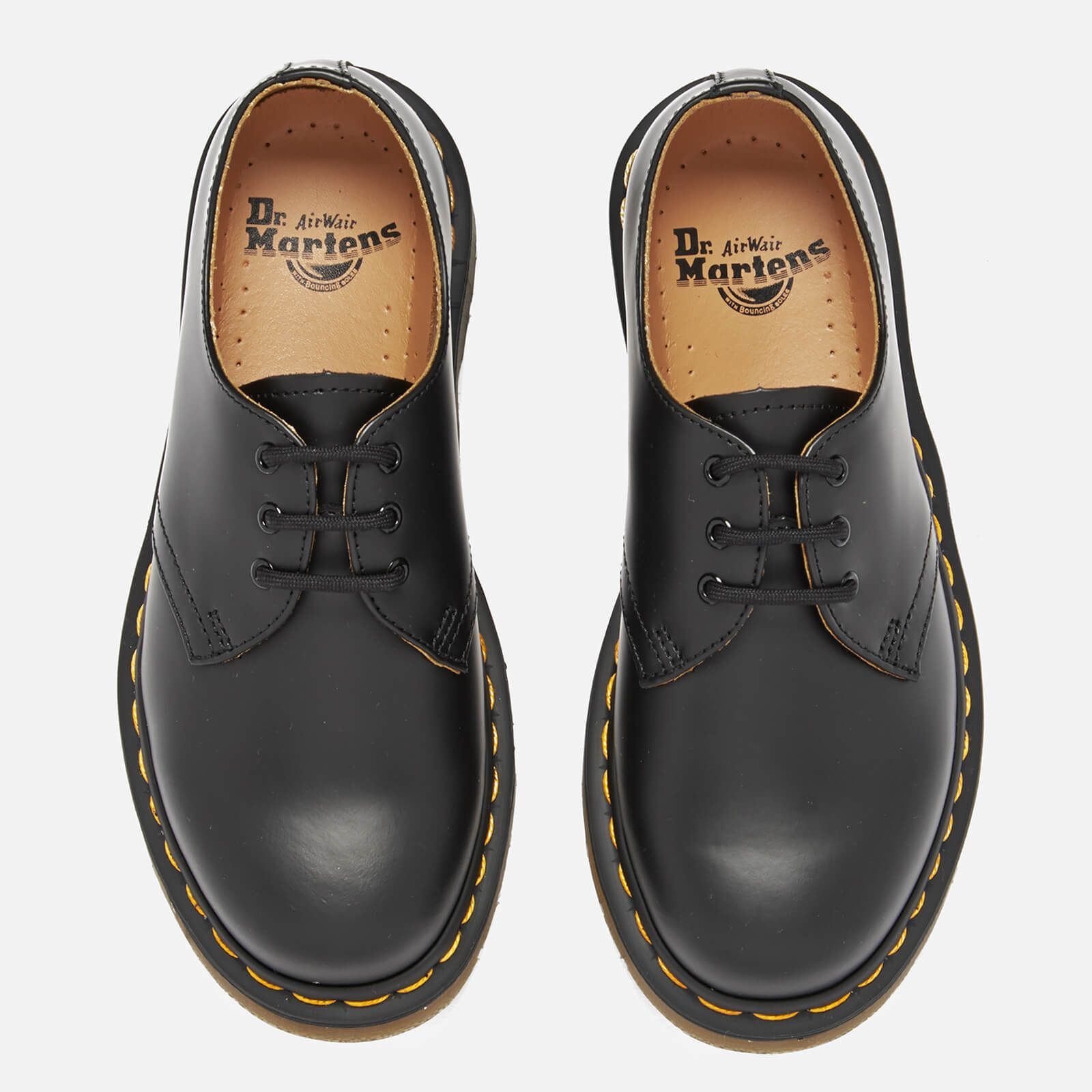 Dr Martens 1461 Smooth Leather 3 Eye Shoes Black In 2020 Black Lace Up Shoes Black Mid Heel Shoes Black Oxford Shoes