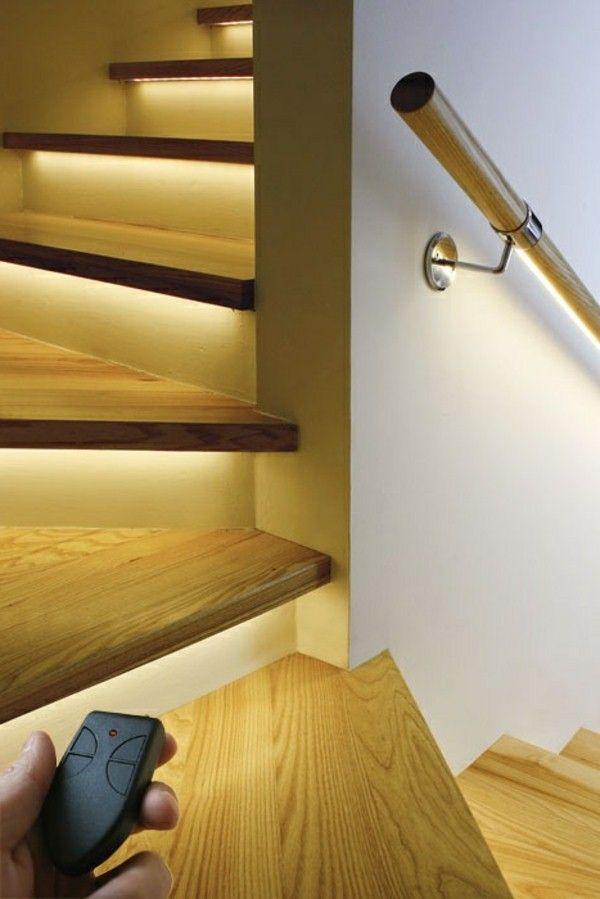 Basement Stairwell Lighting: Modern Chic Stairs Lighting !