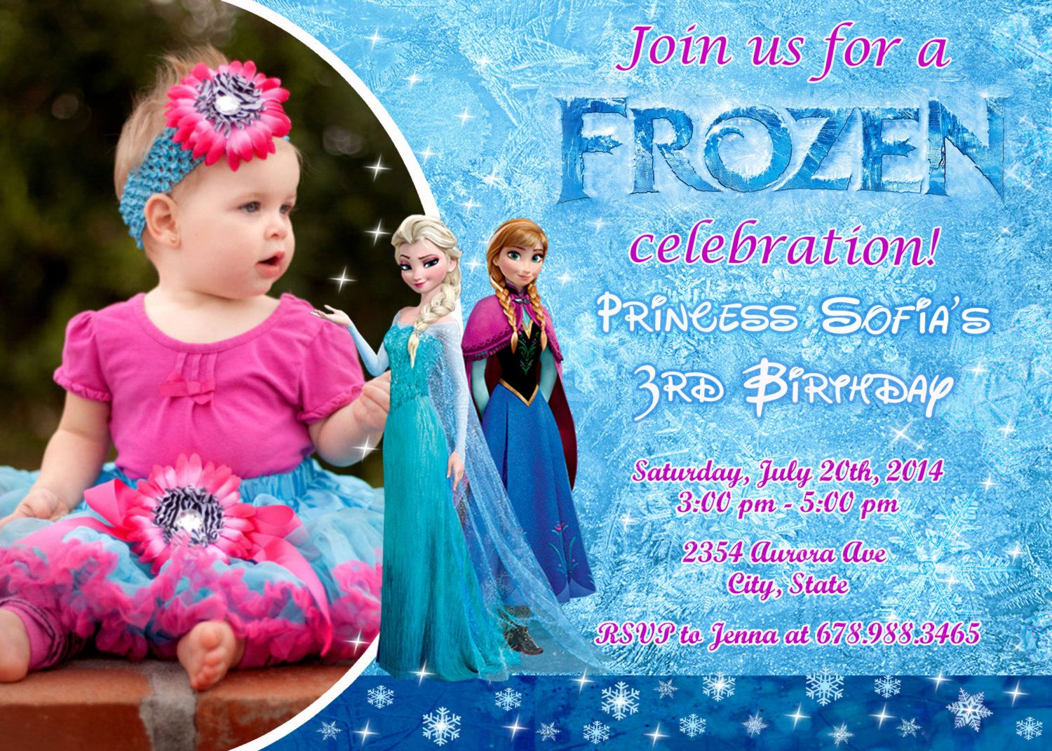 Free Disney Frozen Birthday Invitations ~ Disney frozen birthday party invitation by fantasticinvitation