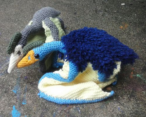 Amigurumi Quetzal : This quetzal was inspired by the quetzalcoatlus in ark: survival