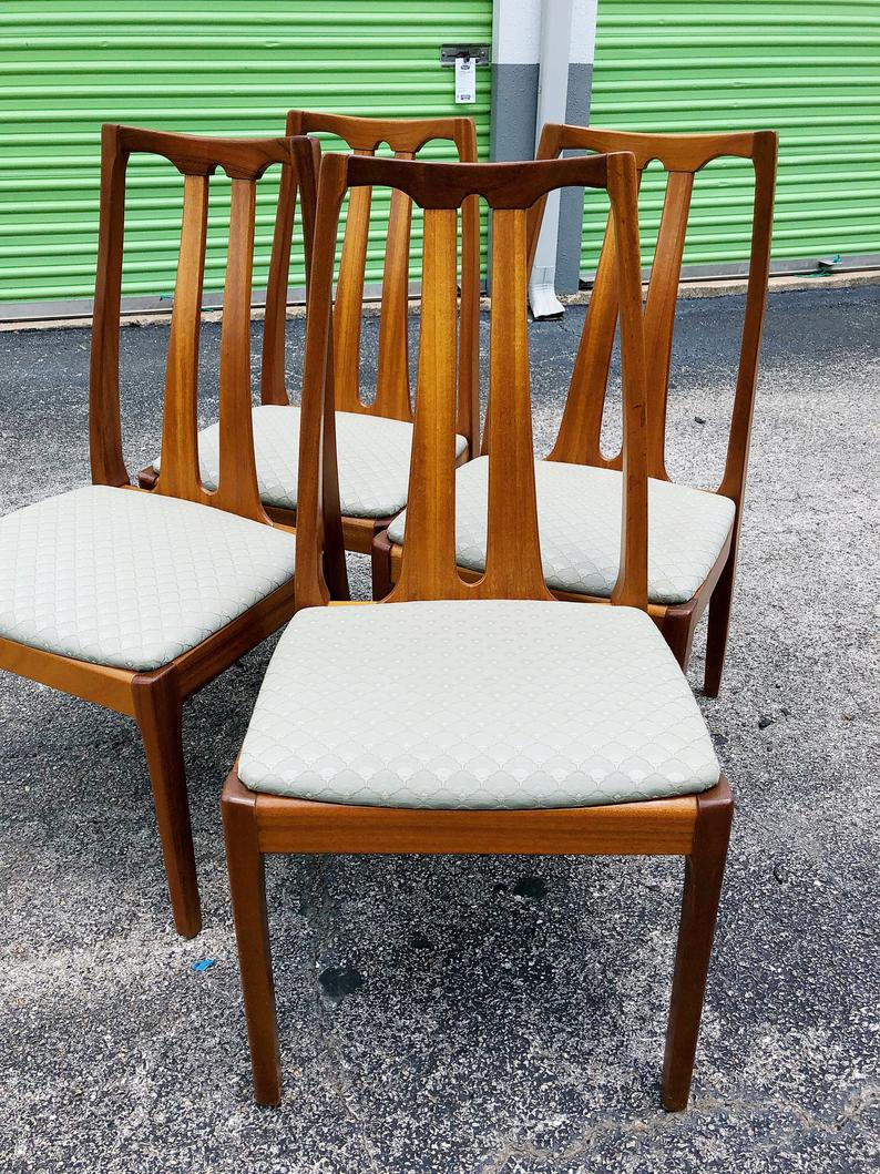 Parker Knoll Teak Dining Chairs Set Of