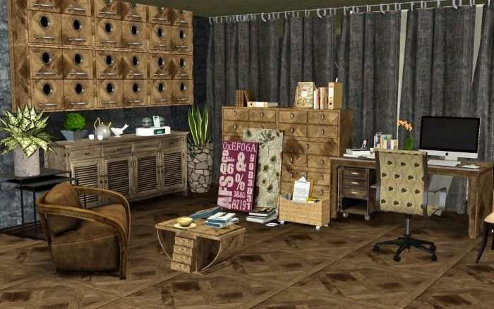 Variations For A Office Room Designs By Guijobo Sims 3 Downloads Cc Caboodle Office Room Room Design Sims 3
