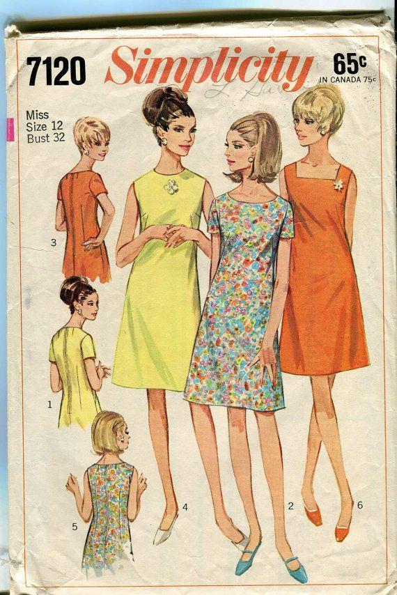 1960s Shift Dresses : 1960s, shift, dresses, Shift, Dress, Pattern