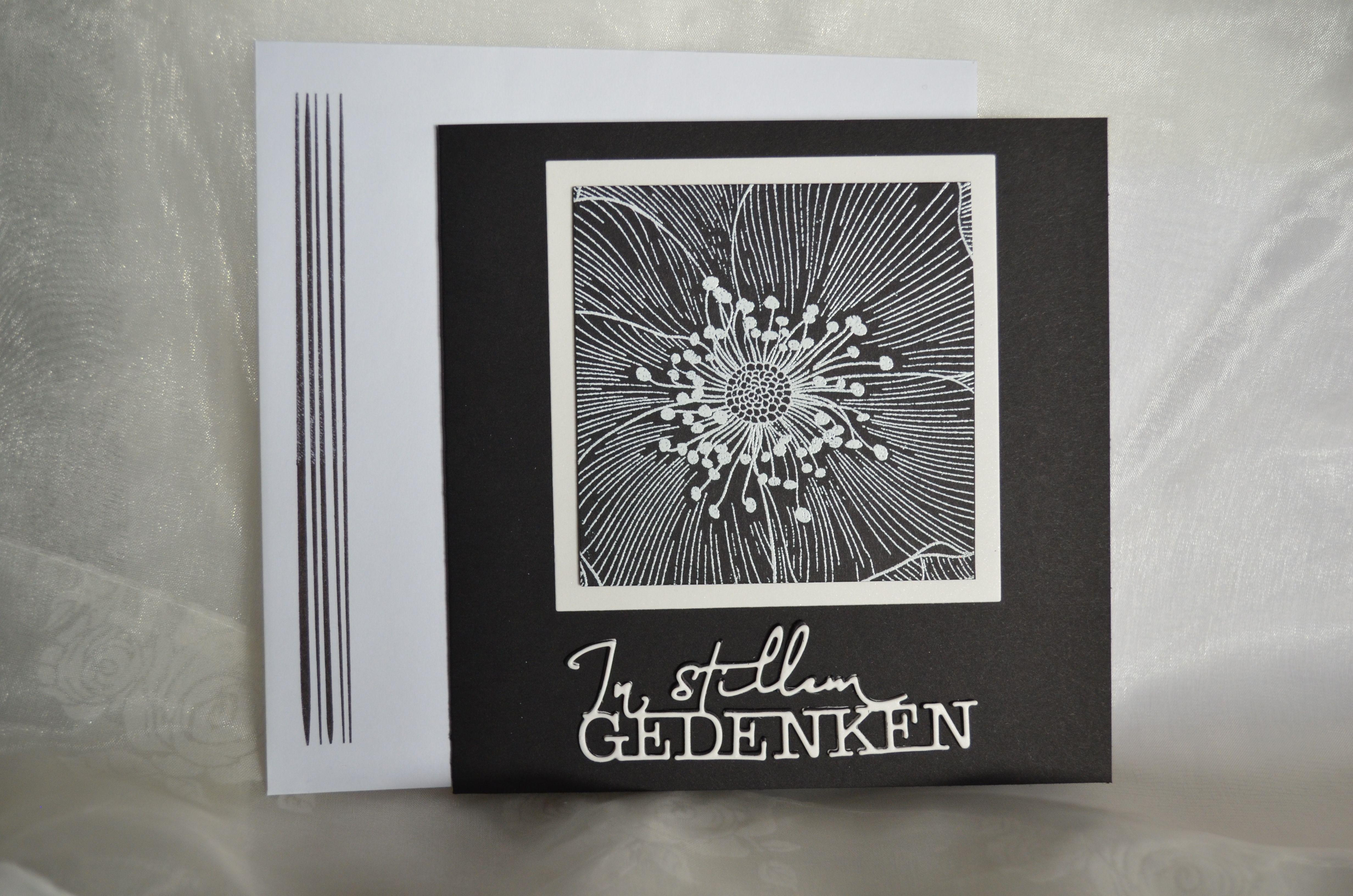 Trauerkarte In stillem Gedenken Schriftstanze Renke, Stempel ...