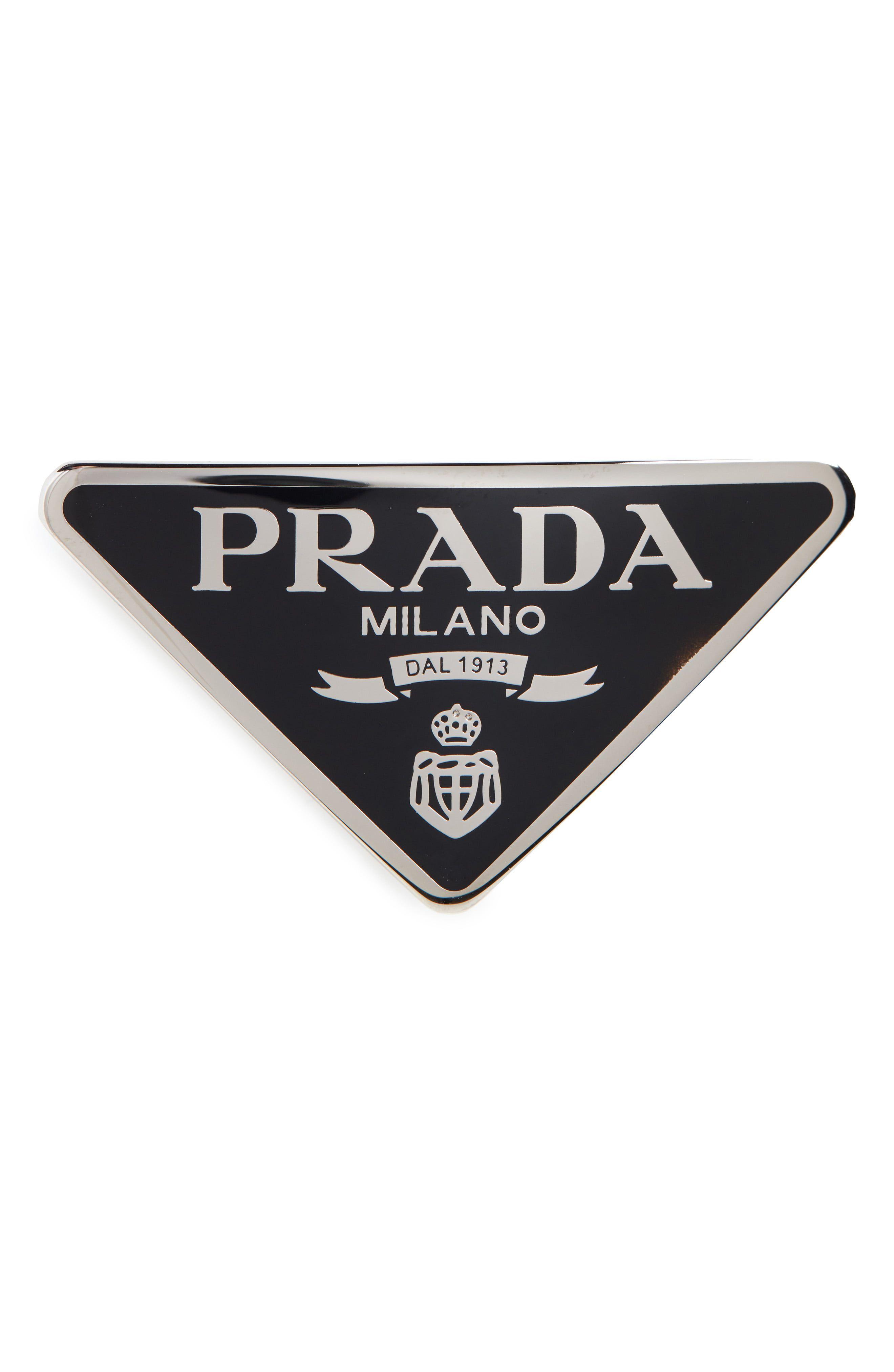 Prada Signature Logo Barrette Nordstrom Prada Signature Logo Black And White Aesthetic