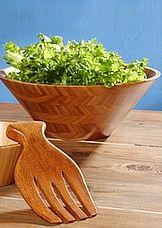 Kodin1, salaattikulho ja ottimet.