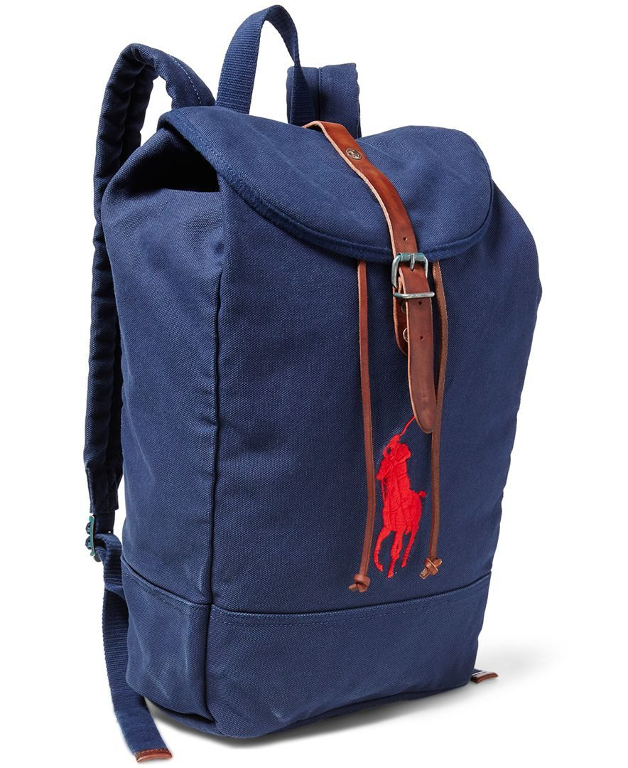 Polo Ralph Lauren Men s Big Pony Canvas Backpack  b52e8f79f630c