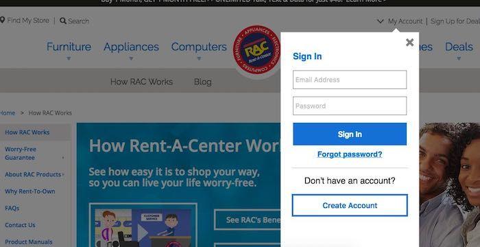 Rent A Center Bill Pay Online, Login, Customer Service