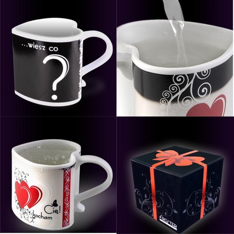 Magiczny Kubek Kocham Cie Prezent Na Walentynki 2961985702 Oficjalne Archiwum Allegro Glassware Tableware Mugs