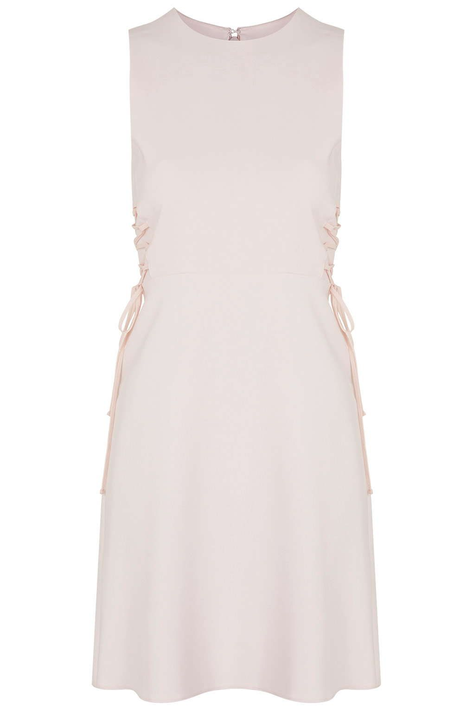 Pink dress topshop  PETITE Lace Up Side Flippy Dress  Dresses  Clothing  Topshop