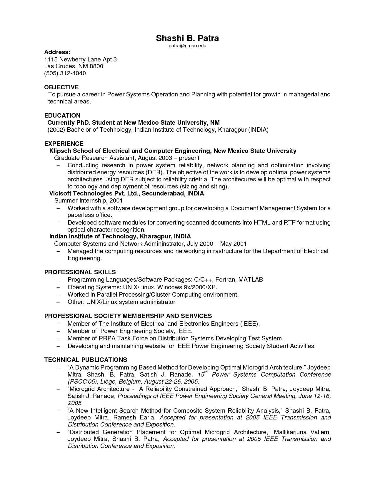 Amazing Computer Science Resume No Experience Contemporary