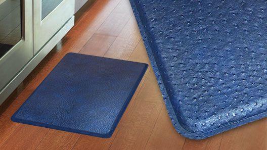 GelPro Plush Ostrich Atlantic Blue Gel Mats | The Ultimate Comfort Floor  Mats And Kitchen Mats