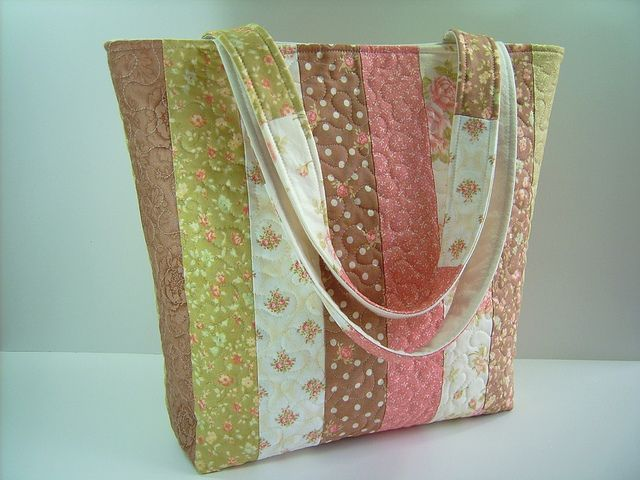 Quilted Tote Bag - colors