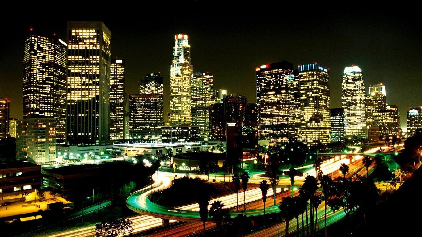 Los Angeles City Lights Wallpaper Los Angeles Night Lights Los Angeles Usa Night City Los Angeles Wallpaper Los Angeles At Night City Wallpaper