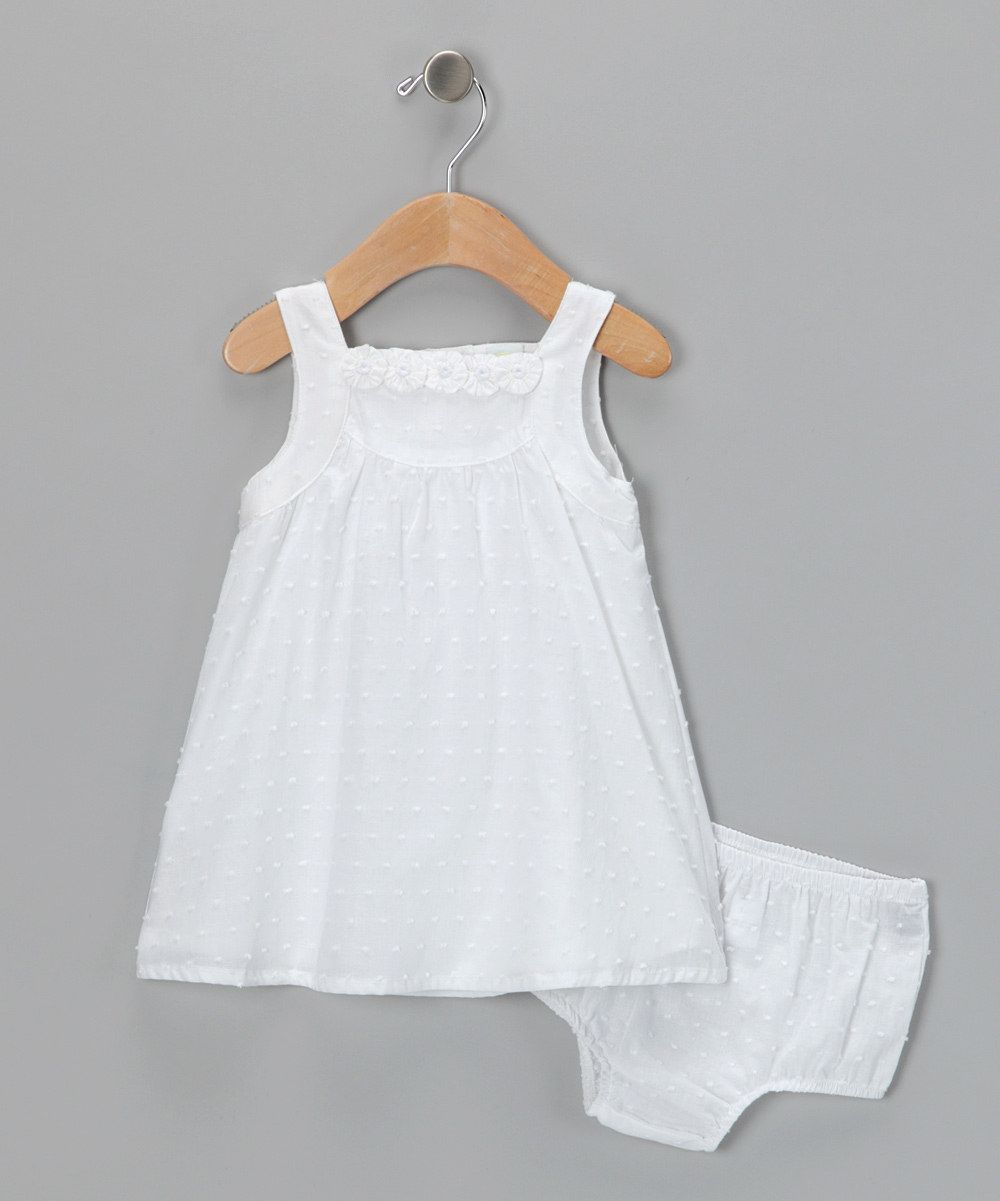 9fbae88d7219 White Dotted Swiss Dress & Diaper Cover | children's apparel ...