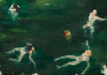 """Saatchi Art Artist Roberta Di Gregorio; Painting, """"Swimming Pool III"""" #art"""