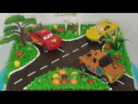 Bambini Disney ~ Torta per bambini cars disney saetta mcqueen tutorial semplice e