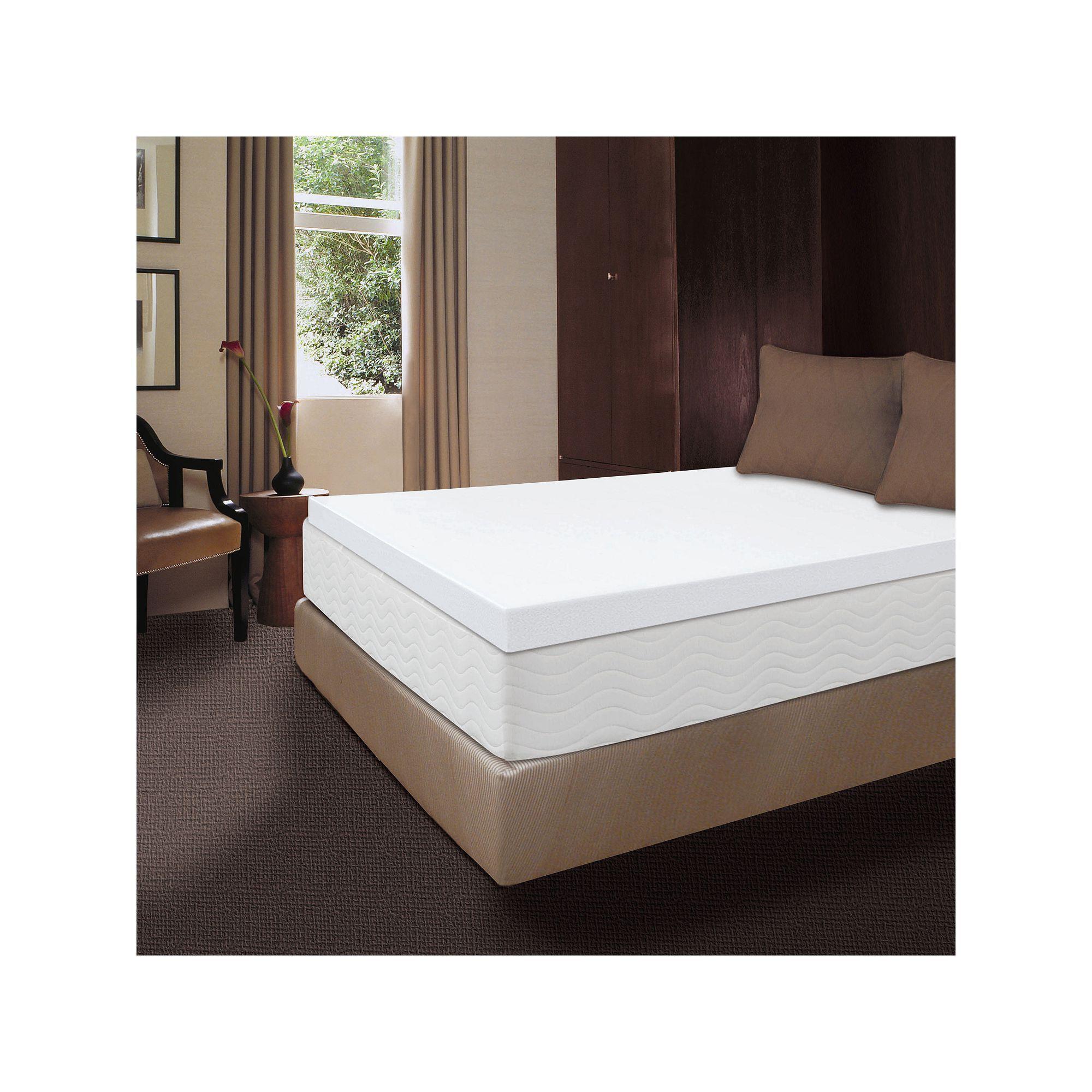 Dream Therapy 4 Inch Memory Foam Mattress Topper Memory Foam