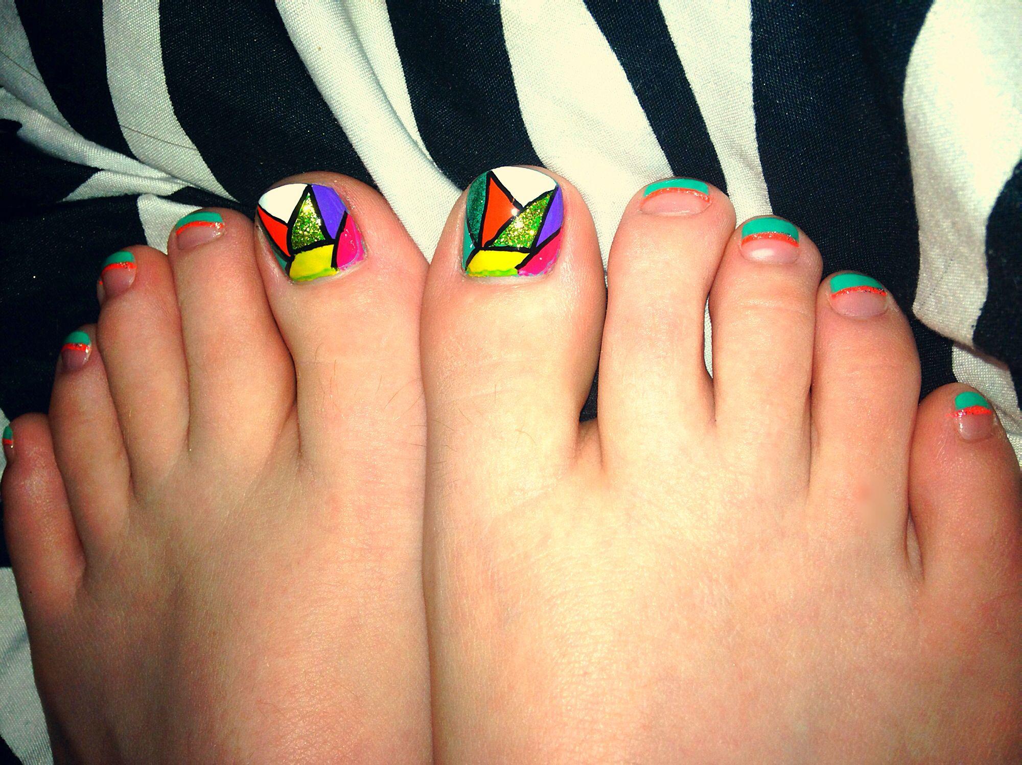 Cute toe nails design!   Nails   Pinterest