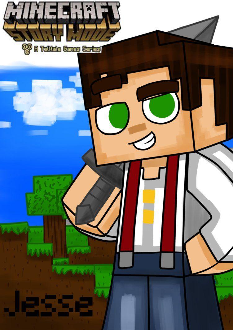 Jesse Male Minecraft Story Mode W Name By Edimay Minecraft Comics Minecraft Characters Minecraft