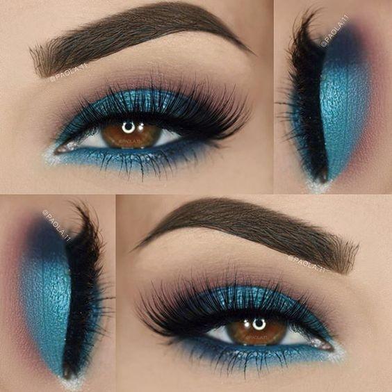 Makeup Cool Blue Eyeshadow Eye Makeup Eye Makeup Tutorial