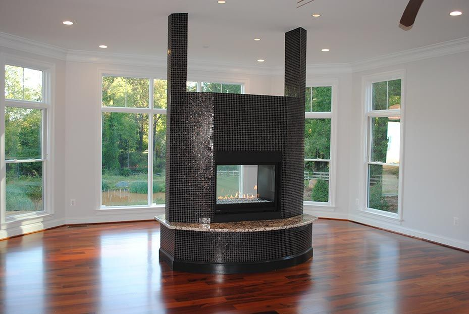 two sided gas fireplace home pinterest