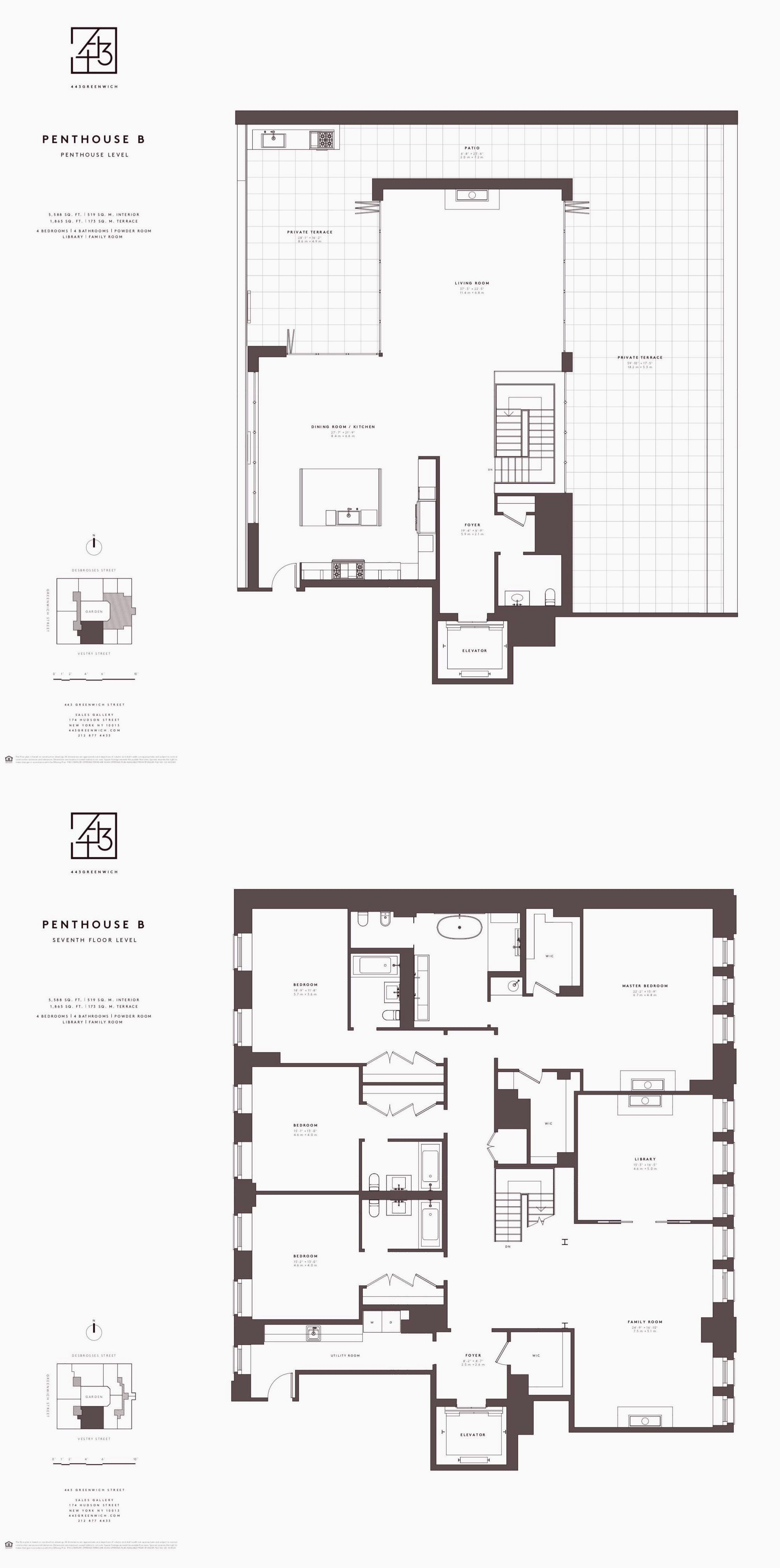 443 Greenwich Street Phb Floor Plans Condominium How To Plan