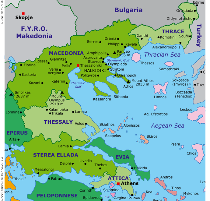Interactive map of Macedonia, Greece at My Favourite Pla