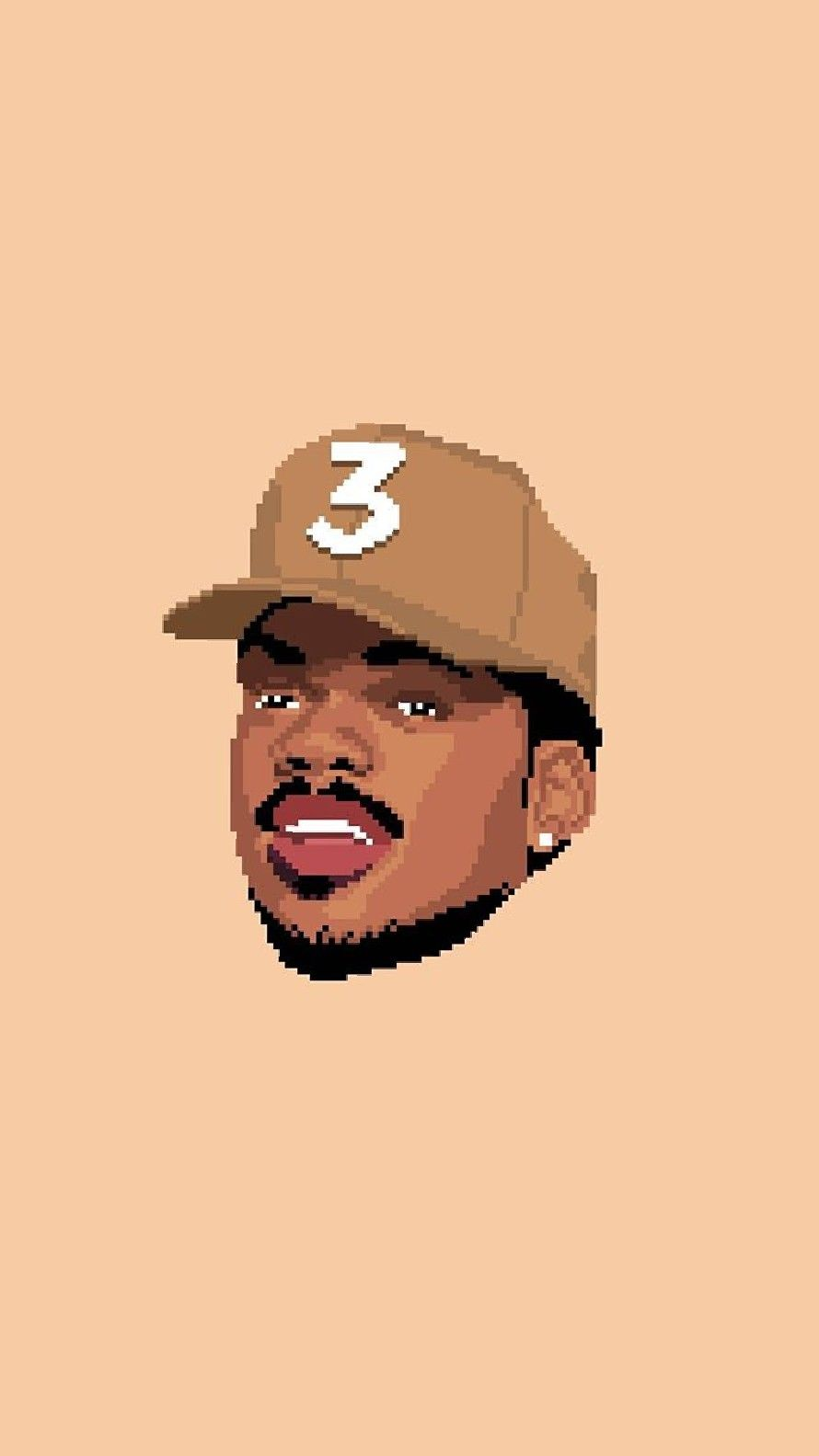 Chance The Rapper Iphone Wallpaper (Design by 8bit Hip