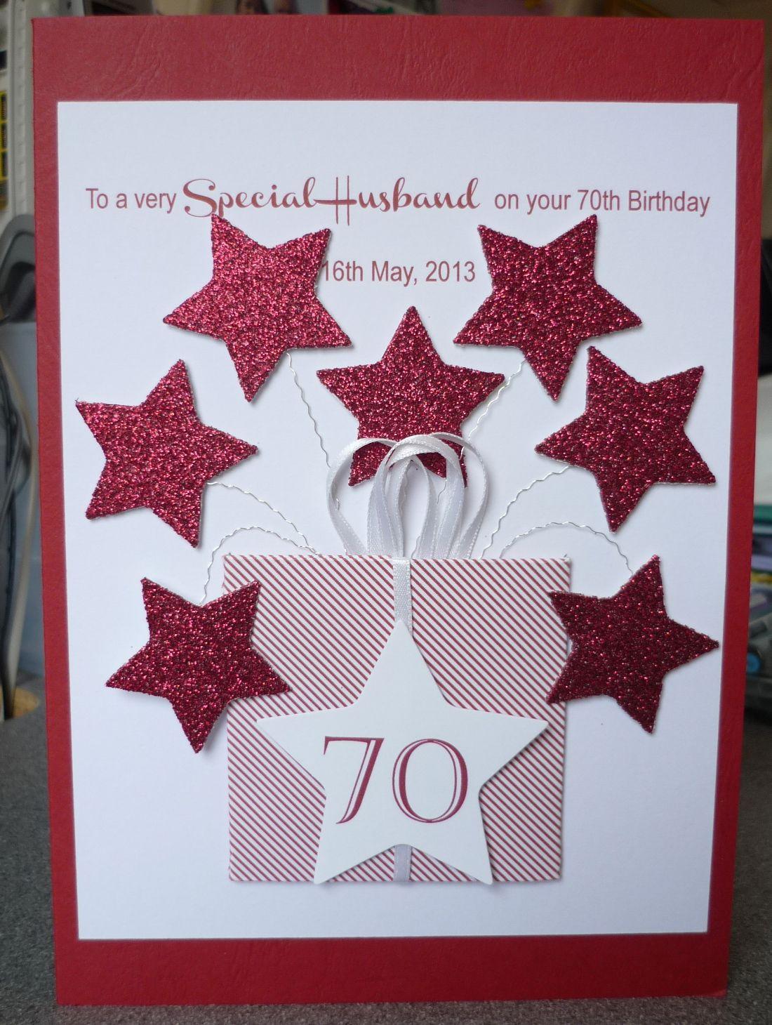 70th Birthday Card 70th Birthday Card Husband Birthday Card Birthday Cards