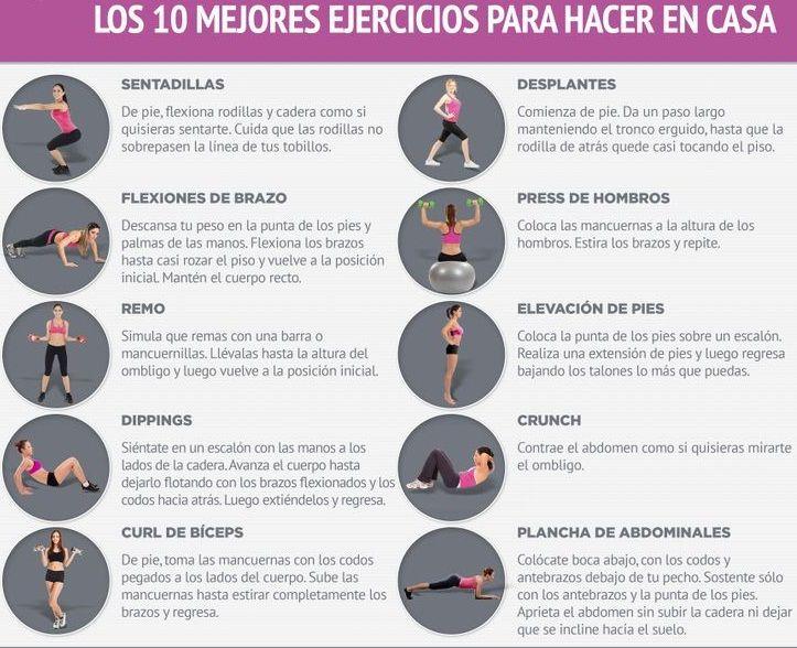 tablas de ejercicios para perder inquietud en casa