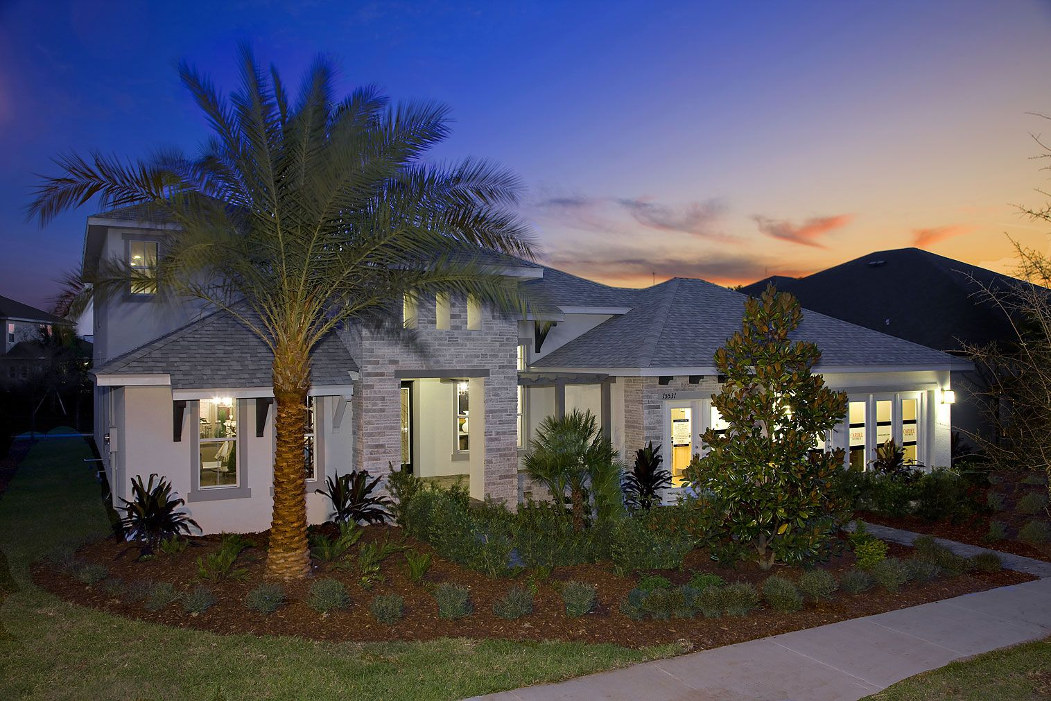 The Cortina model home at FishHawk Ranch, by Cardel Homes