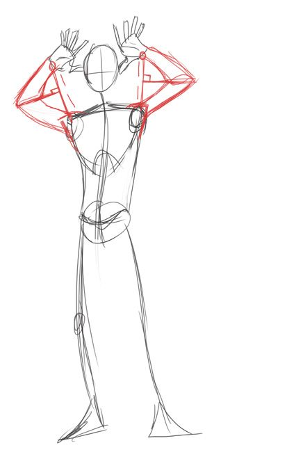 How to draw correct arm length for different positions ...