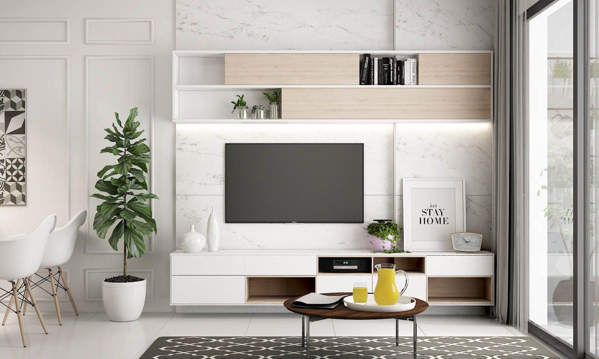 Fernsehtisch Design 50 Ideas To Decorate The Wall You Hang Your Tv On Residential