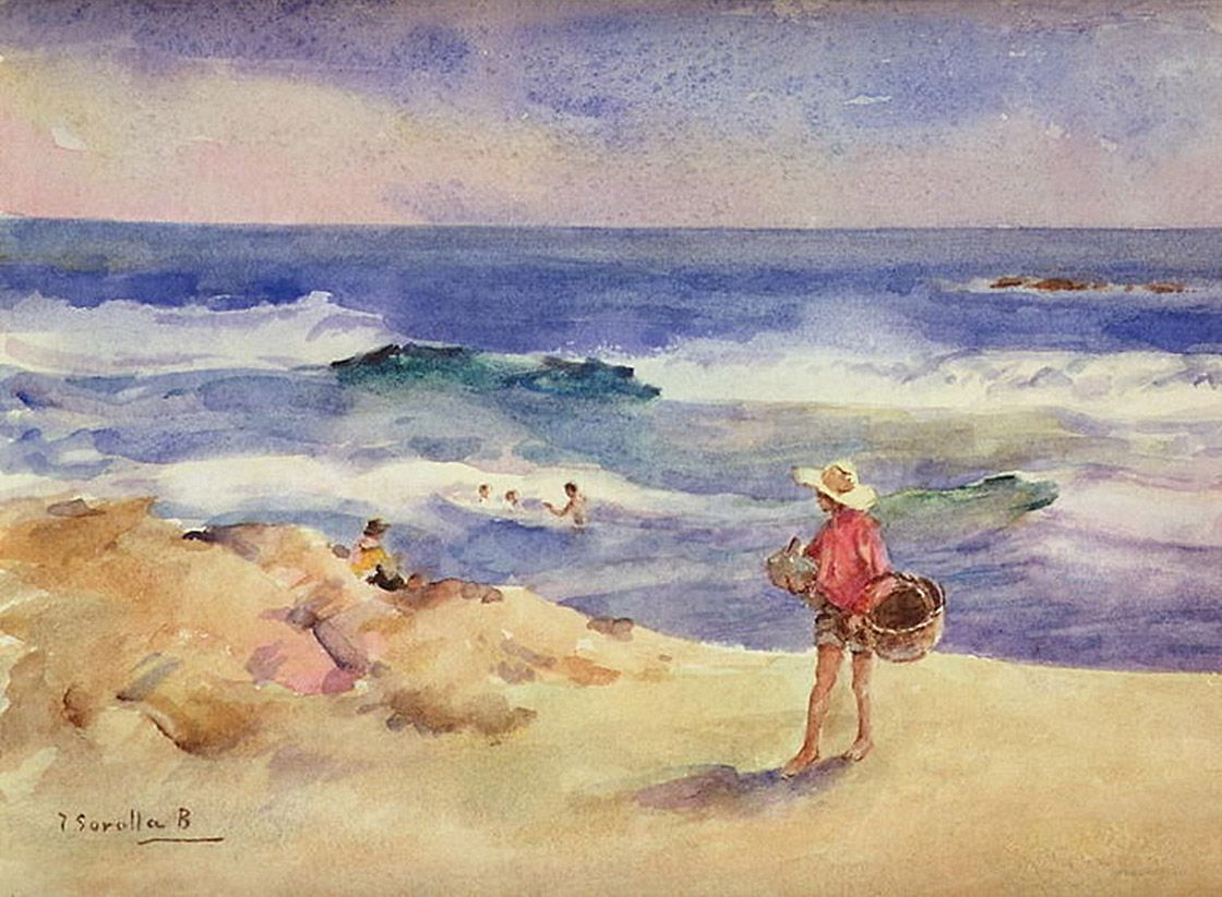 Joaquín Sorolla Realist Impressionist Painter Part 2 Sand Painting Art Joaquin Sorolla