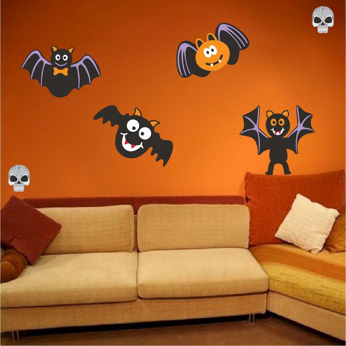 Halloween Decal Murals Pack Halloween Wall Decals Bat Wall Decals