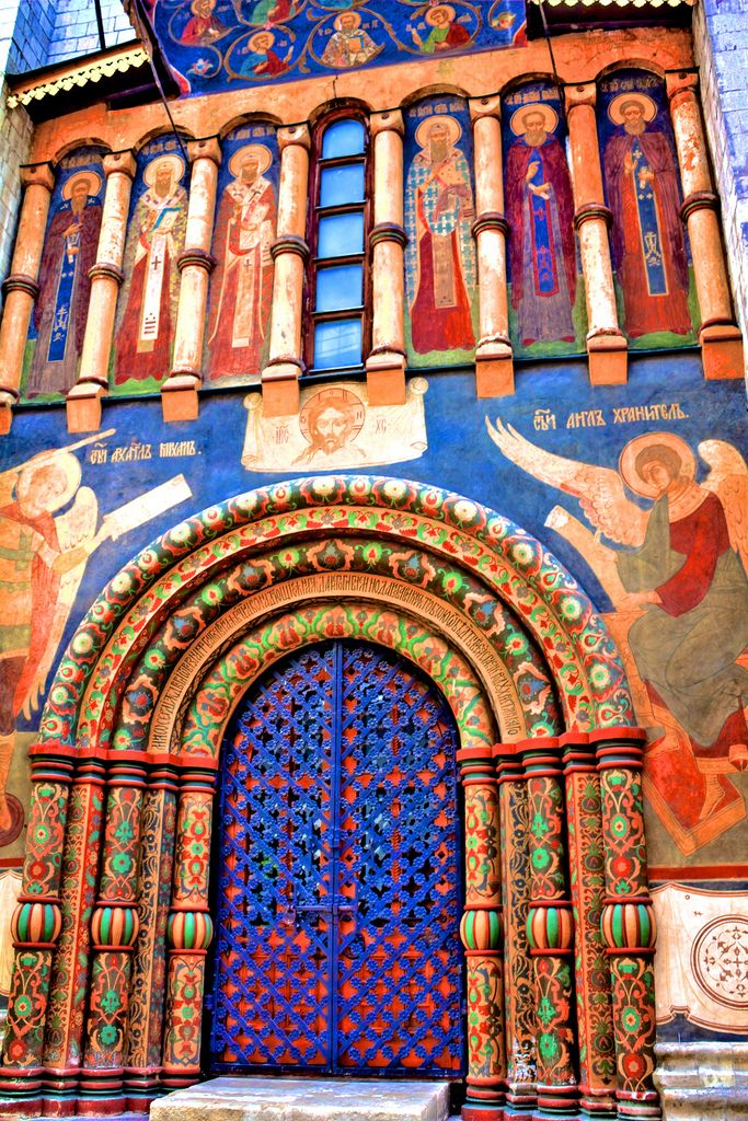 Dormition Cathedral, Moscow  Very colorful doors.................................
