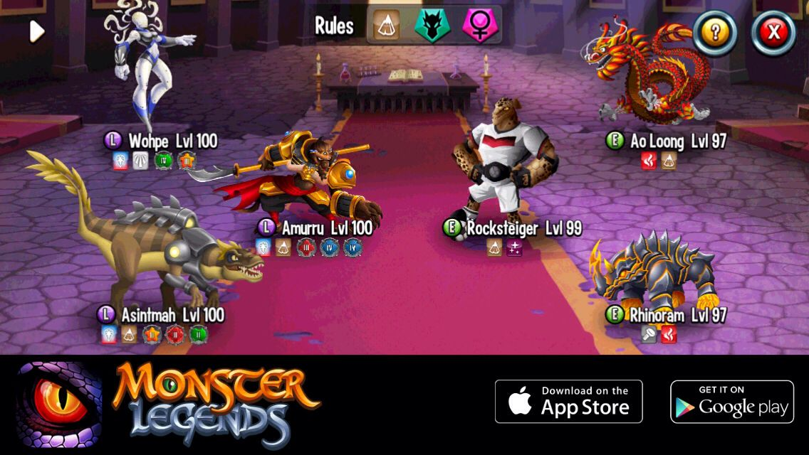 I'm performing a counterattack at Monster Legends! Join the game now too!  http://m.onelink.me/183ad3da