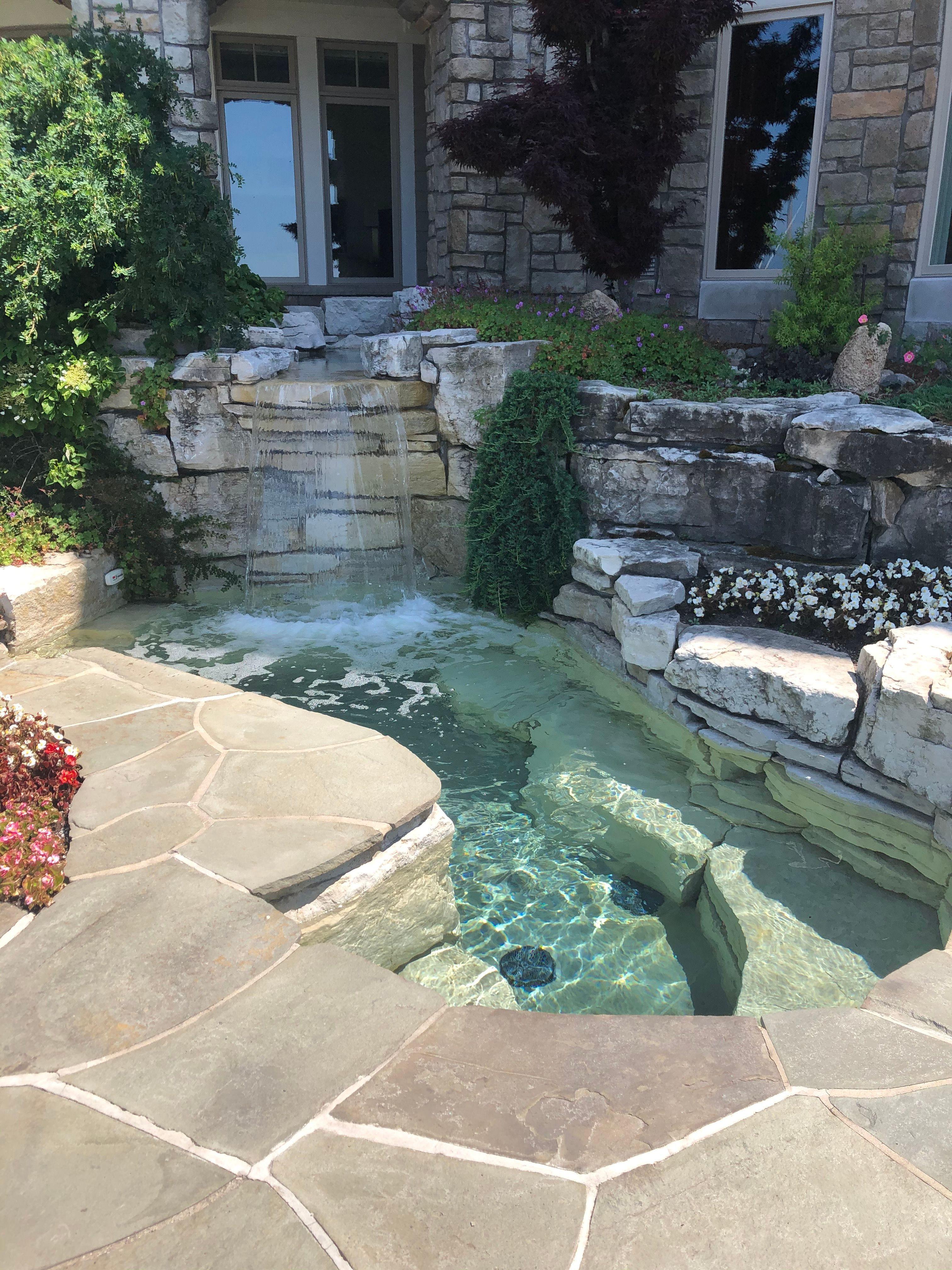 Photo of Pool Spa Water Features – Landscape Maintenance | Drost Landscape