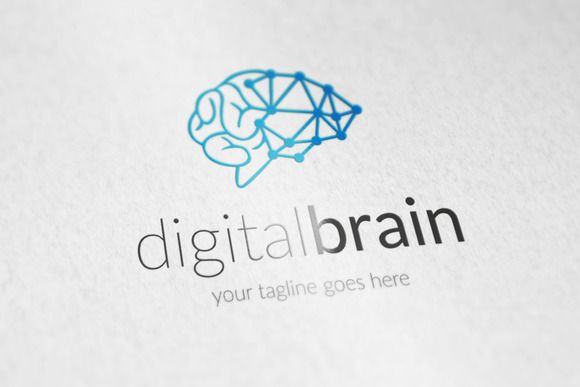 Digital Brain V2 Logo By Vectorlogos89 On Creative Market