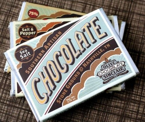 Modern Vintage Design From The Olive And Sinclair Chocolate Company Retro Packaging Vintage Packaging Chocolate Packaging Design