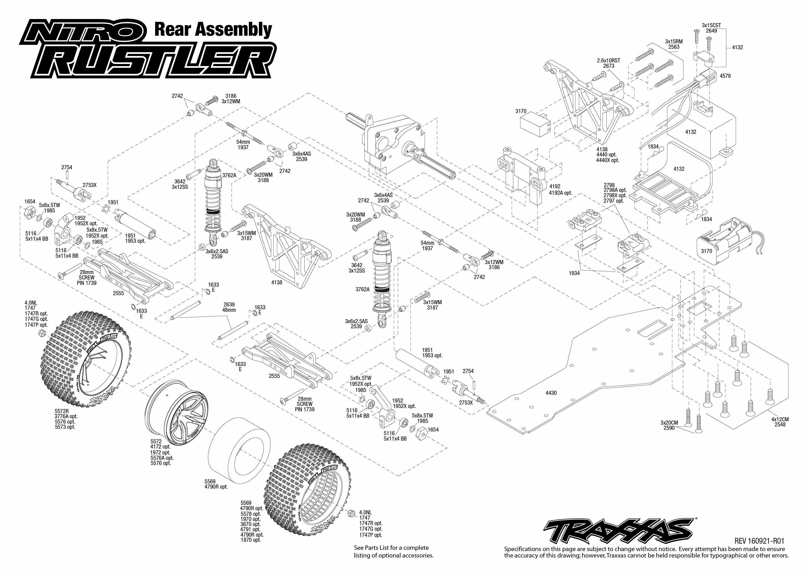 Nitro Rustler 3 Rear Assembly