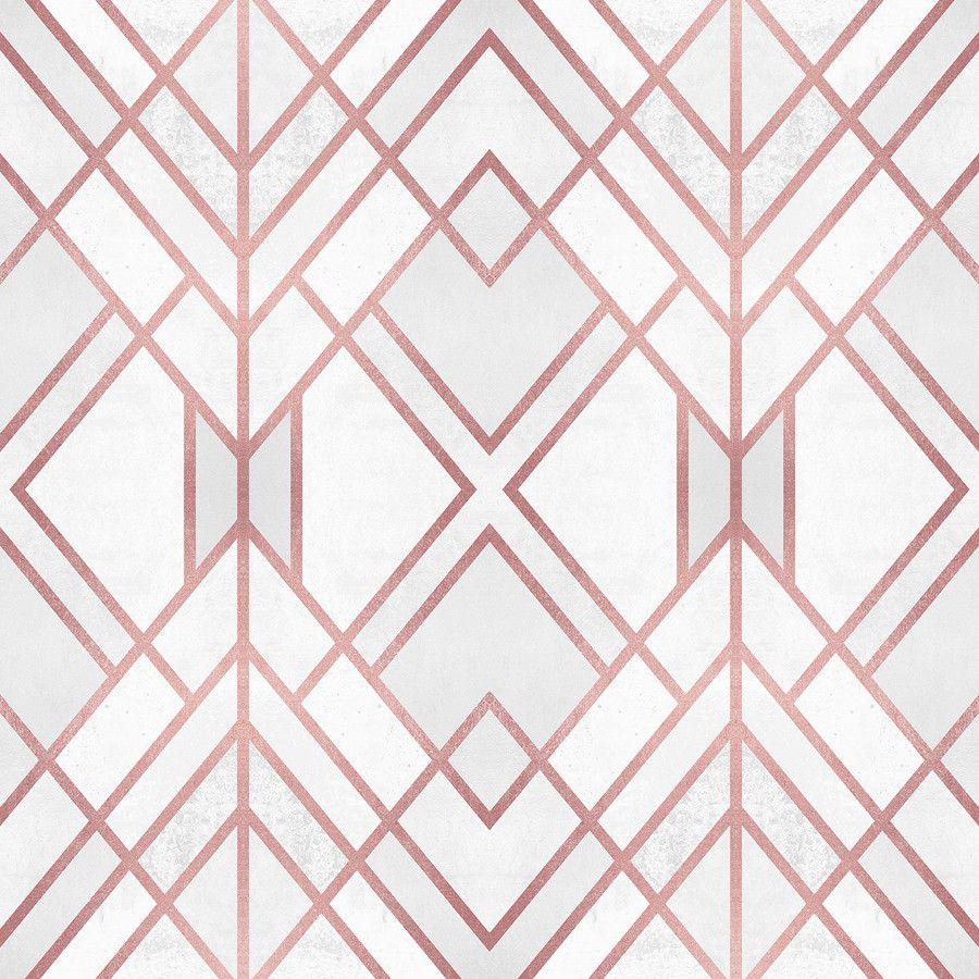 Rose Gold Geo Rose Gold Wallpaper Gold Wallpaper Designs Pattern Wallpaper