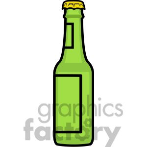 Beer Bottle Icon 398235 Vector Clip Art Image Illustrations By Graphics Factory Beer Bottle Drawing Bottle Drawing Clip Art