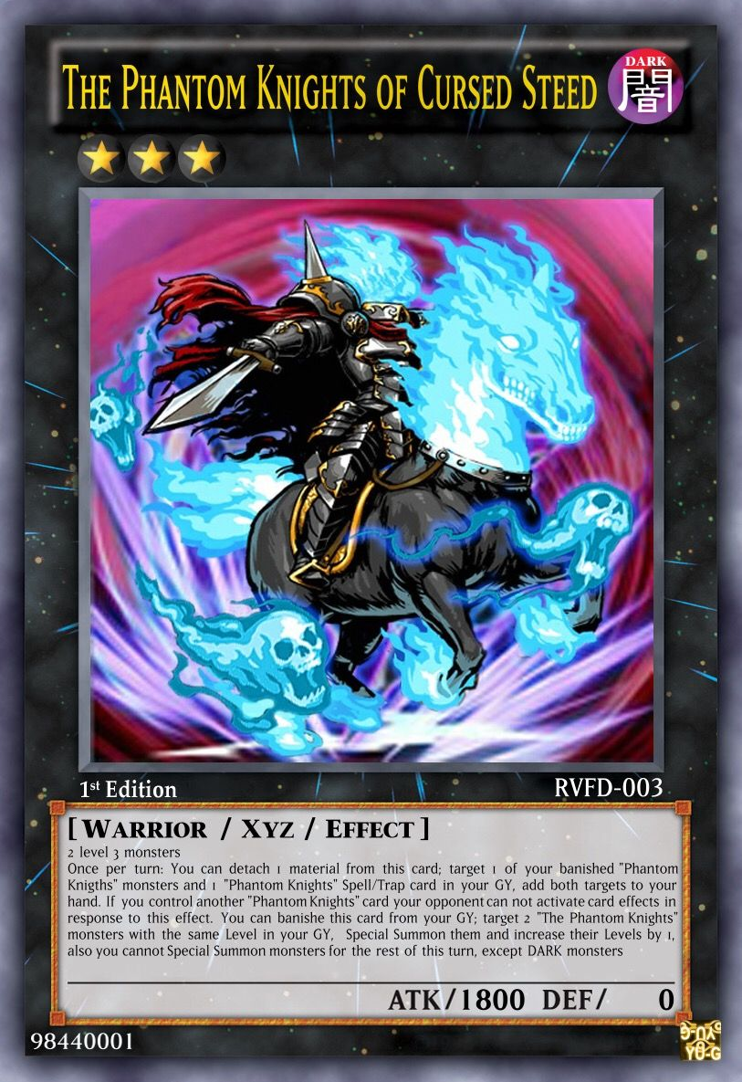 Phantom Knights Custom Made Card Yugioh Cards Yugioh Collection