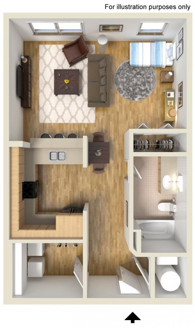 Studio 1 Bathroom 591 Sq Ft Sims House Small Space Interior Design House Floor Plans