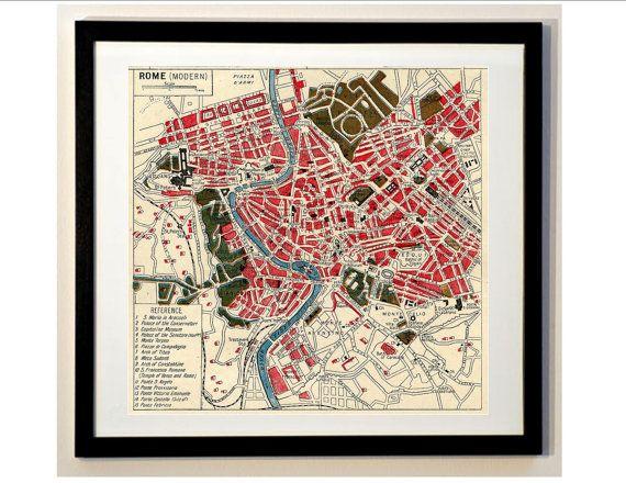 """10X8/"""" Vintage Italy Map 1799 Canvas Art Print"""