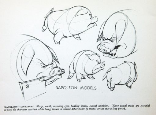 The Animal Farm Production Artwork From The 1954 Published Book The Animated Film Written By Ro Animal Caricature Animal Drawings Character Design Animation