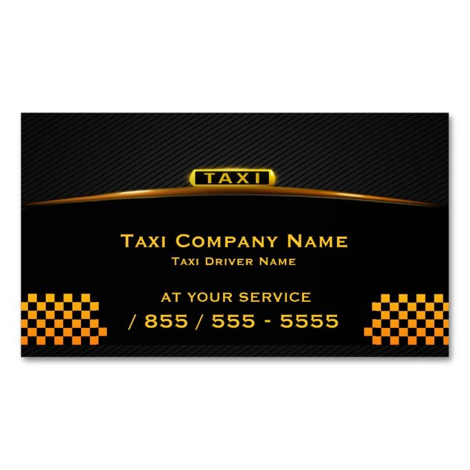 Cab Company Taxi Driver Business Card I Love This Design It Is