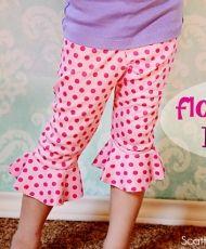 free - Flounce Hem Capri Leggings